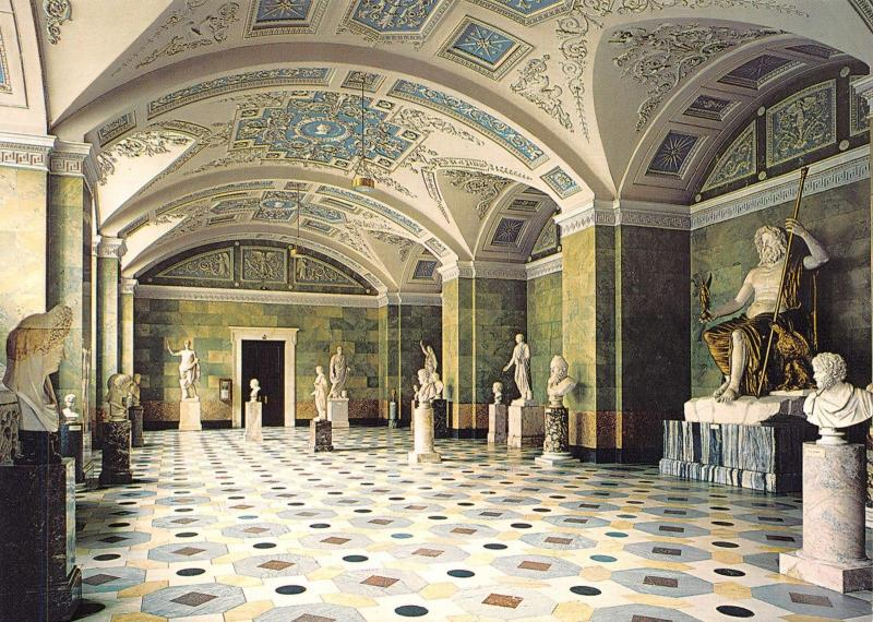 St Petersburg Russia Postcard, The Hermitage, The Jupiter Hall Y14