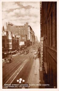 Los Angeles~Spring Street~Blueprints Photostat~Great Republic~Trolley~1920s RPPC