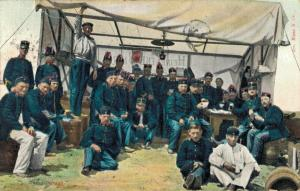 Military postcard Onze Land - Zeemacht Infanterie In Het Kamp Camp Kantine 02.13