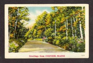 ME Greetings From CORNISH MAINE POSTCARD PC