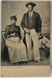 African Aristocrats, Half Penny Stamp Derby to Wirksworth Tuck Art Postcard N12