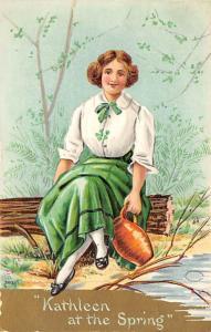 Kathleen at the Spring St. Patricks Day Postcard 12919