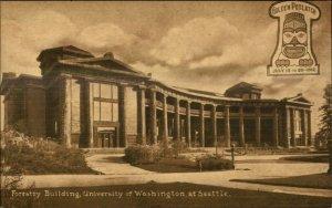 Seattle WA Golden Potlatch 1911 Postcard - Forrestry Bldg