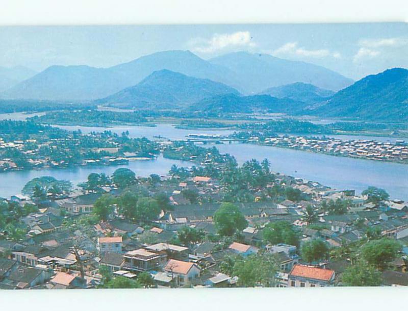 Unused Pre-1980 AERIAL VIEW OF TOWN IN NHA TRANG Vietnam SOUTHEAST ASIA n2771