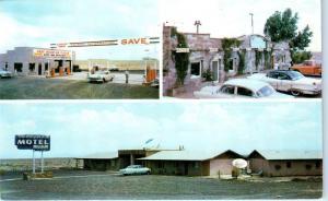 GRAY MOUNTAIN, AZ  Arizona  TRADING POST, GAS, CAFE 1959  Cars Roadside Postcard