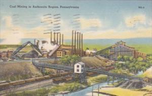 Coal Mining In Anthracite Region Pennsylvania 1943