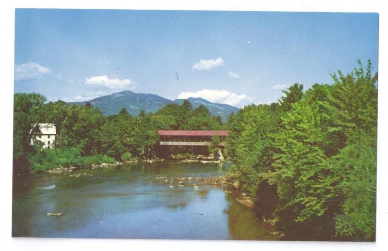 Covered Bridge Postcard New Hampshire Saco River Conway NH