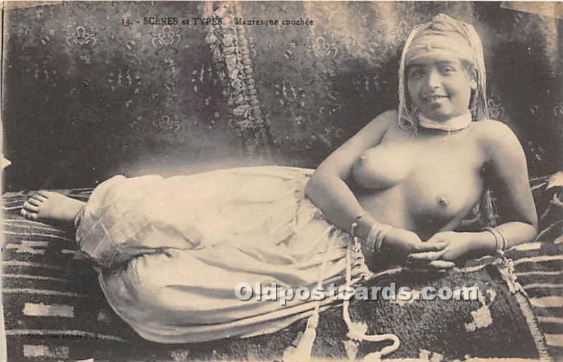 1921 Jeune Mauresque Algerian Girl In Traditional Dress