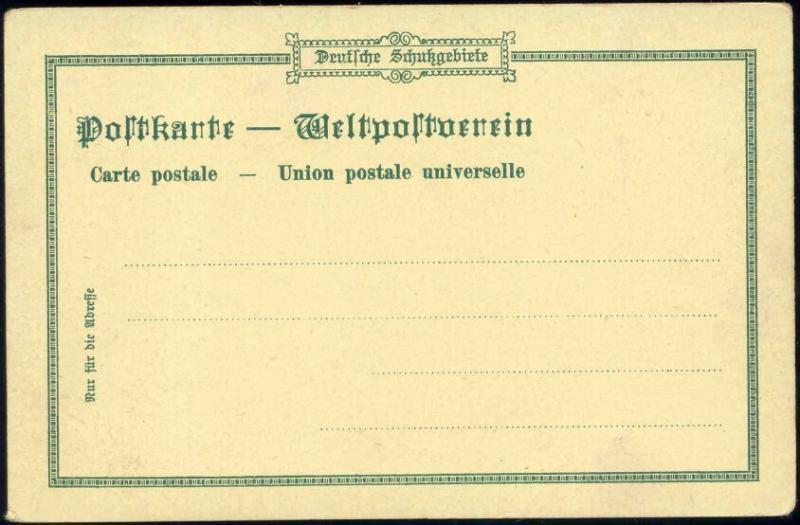 German Papua New Guinea, STEPHANSORT, Hospital, Litho Multiview (ca. 1899)