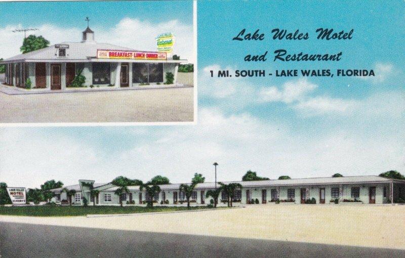 Florida Lake Wales Lake Wales Motel & Restaurant sk2900
