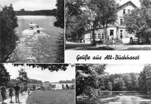 Gruesse aus Alt Buechhorst Gruenheide Mark, Gaststaette am Moellensee Lake Boats