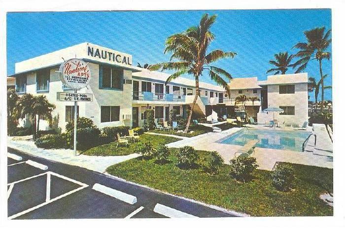 Nautical Apartments, Swimming Pool, Fort Lauderdale, Florida, 40-60s