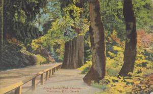 Along Stanley Park Driveway, Vancouver, British Columbia, Canada, PU-1945