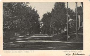 Suncook New Hampshire scenic view looking north down Broadway antique pc Z21471