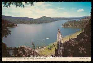 Lake Coeur d'Alene near Blue Bay Bridge on Interstate 90