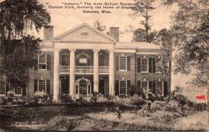 Mississippi Natchez Auburn Ante-Bellum Residence In Duncan Park