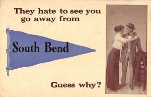 South Bend Washington Romance Greetings Pennant Postcard JD228196