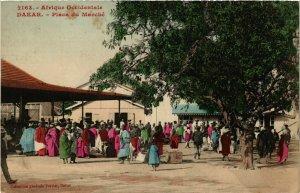 CPA AK Fortier 2163 Dakar- Place du Marche SENEGAL (812241)