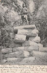 Daniel Boone Statue at Cherokee Park Louisville KY Kentucky Roadside pm 1906 UDB