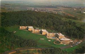 Ephrata Pennsylvania~Foodergong Lodge~Hotel Resort~Aerial View~1960s