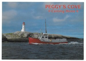 Fisherman Coming Home to Peggy's Cove Novia Scotia Canada 4 by 6