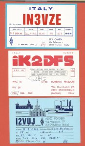 QSL AMATEUR RADIO CARDS – ITALY – 3 DIFFERENT CARDS – 1980-1988 (2)