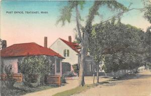 Teaticket MA Cape Cod Post Office Street View Postcard