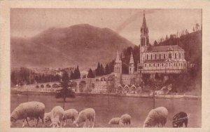France Lourdes La Basilique et le Pic du Jer 1935