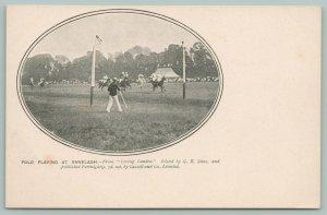 Ranelagh Dublin Ireland~Polo Game Players~Riders Race Horses~Goal Post~1905 B&W
