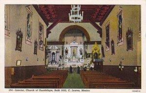 Mexico Juarez Interior Church Of Guadalupe