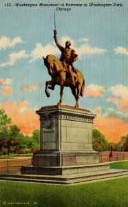 IL - Chicago. Washington Park, Washington Monument