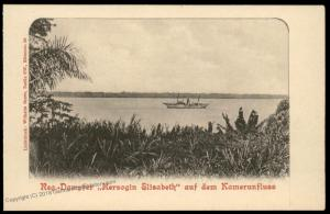 Germany Kamerun Postcard Dampfer Steamer Herzogin Elisabeth Cameroun River 85144