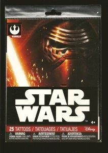 Disney Star Wars Rebel & Empire Packs of 25 Each Tattoos 50 Total Unopened Packs
