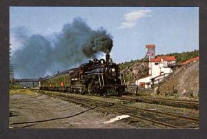 ON Ontario Northland Railroad Train Cobalt Haileybury Carte Postale Postcard PC