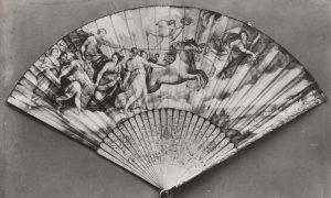 Rospigliosi Casino Italan Fan Chinese Ivory Sticks Museum Postcard