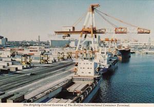 Canada Nova Scotia Halifax International Container Terminal Brightly Colored ...