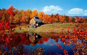 VT - Autumn at the Maple Sugarhouse