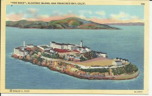San Francisco Bay, Calif., The Rock Alcatraz Island