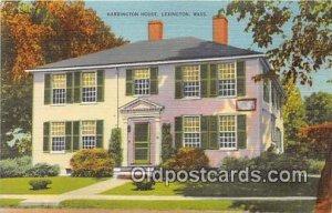 Harrington House Lexington, Mass Patriotic Unused