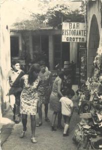 Vintage real photo San Marino 7x10cm Bar Ristorante Grotta 1967