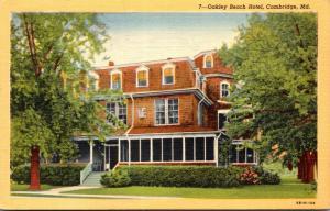 Maryland Cambridge Oakley Beach Hotel Curteich