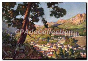 Postcard Old Mountain Oilette Menton