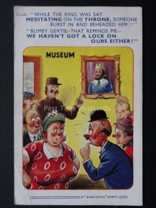 Comic PC TOILET HUMOUR - THE KINGS ON THE THRONE c1950/60's Bamforth 1824