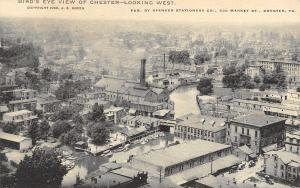 Chester Pennsylvania~Birdseye View: City Panorama~Homes~Business~River~1905 B&W