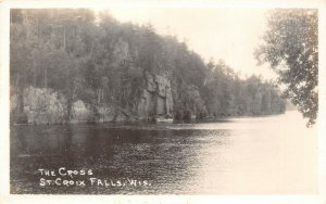 LP52   St. Croix  Falls  Wisconsin RPPC Postcard  The Cross