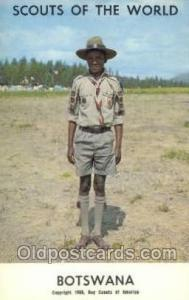 Botswana Boy Scouts of America, Scouting Postcard, Post Cards, Copyright 1968...