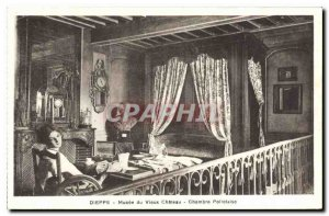 Old Postcard Dieppe Musee du Vieux Chateau Polletaise Room