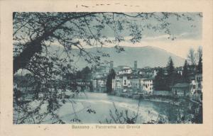 Bassano del Grappa) , Veneto, in northern Italy , 1910s Panorama sul Brenta