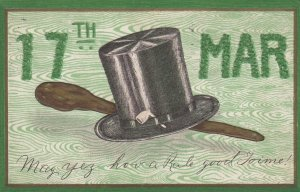 St. Patrick's Day;Hat & Club , 1909