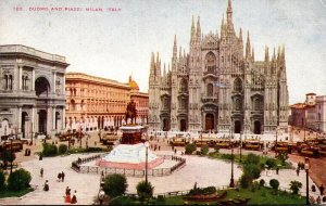 Italy Milano Duomo and Piazzi